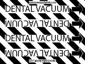 Dental Vac Pipe Label