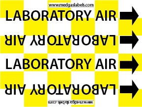 Lab Air Pipe Label