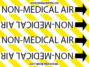 Non-Medical Air Pipe Label