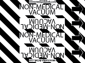 Non-Medical Vacuum Pipe Label