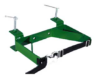 Single cylinder bench mount with strap