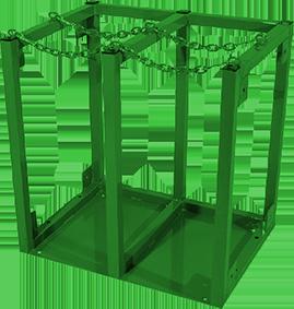 Four cylinder rack - H, T & K size cylinders