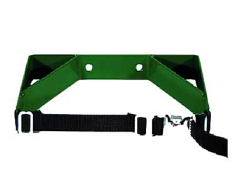 Single cylinder wall bracket with strap