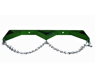 Double cylinder wall bracket with chain