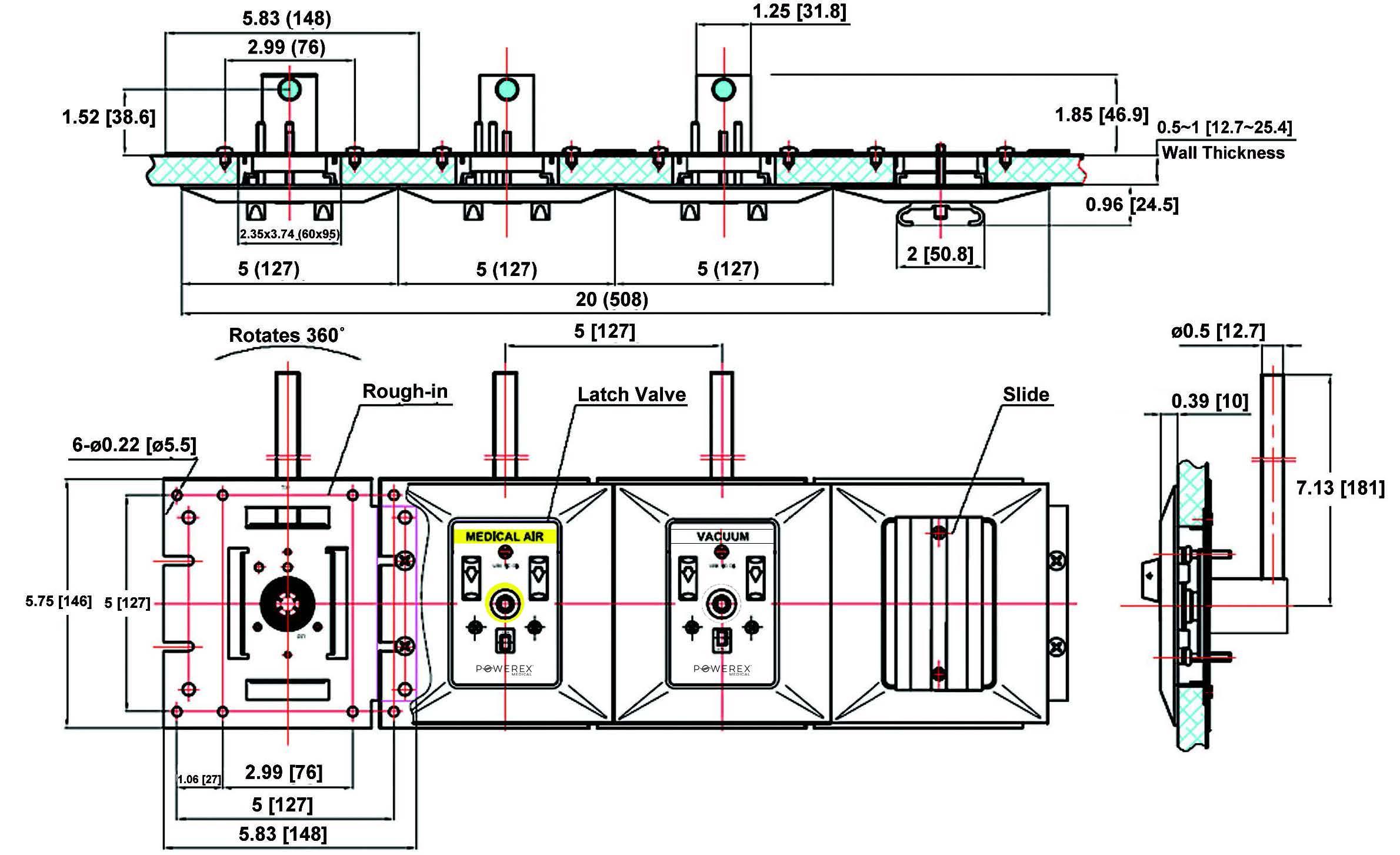 Powerex (Series 2) Medical Gas Outlet - Chemetron